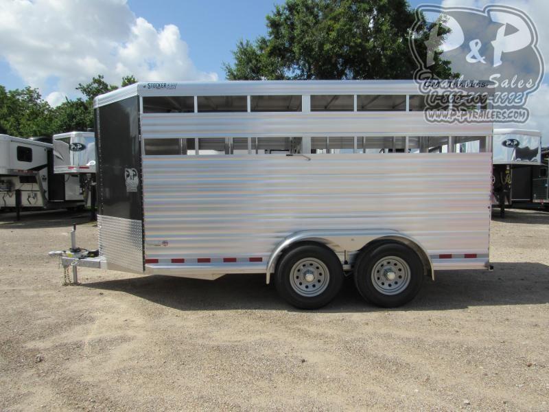 2020 CM Stocker AL-V 16 x 6.8 16 ft Livestock Trailer