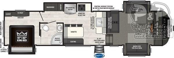 2020 Keystone Sprinter LIMITED 3341FWFLS 37.83 ft Fifth Wheel Campers RV