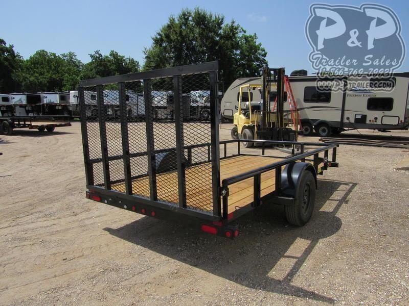 2020 Big Tex Trailers 35SA-12BK 12 ft Utility Trailer LQ