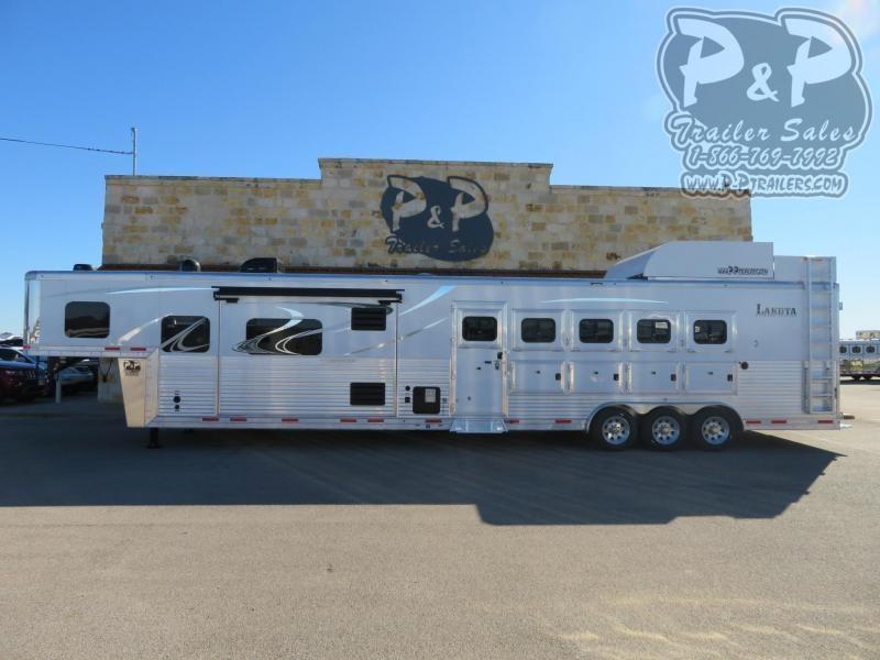 2020 Lakota Bighorn BH8516TSR 5 Horse Slant Load Trailer 16 FT LQ With Slides w/ Ramps