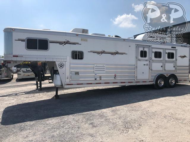2007 Platinum Coach 3H12SW 3 Horse Slant Load Trailer 12 FT LQ