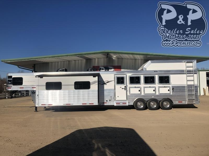 2021 SMC Horse Trailers SL8418SCEBT 4 Horse Slant Load Trailer 18 FT LQ With Slides w/ Ramps