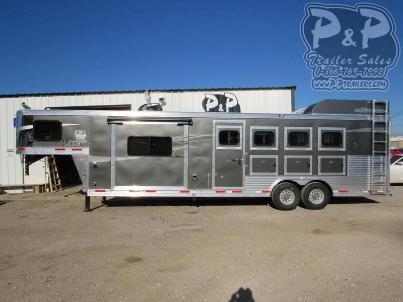 2019 Lakota Charger C8411RK 4 Horse Slant Load Trailer 11 FT LQ With Slides