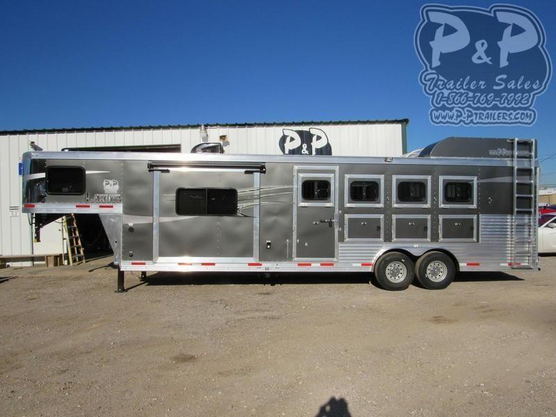 2020 Lakota Charger C8411RK 4 Horse Slant Load Trailer 11 FT LQ With Slides