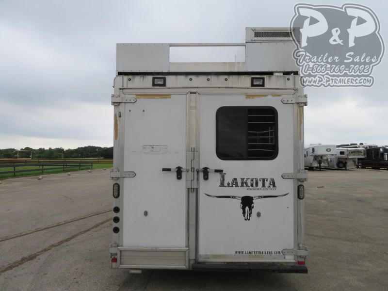 2014 Lakota Big Horn BB8512 5 Horse Slant Load Trailer 12 FT LQ With Slides w/ Ramps