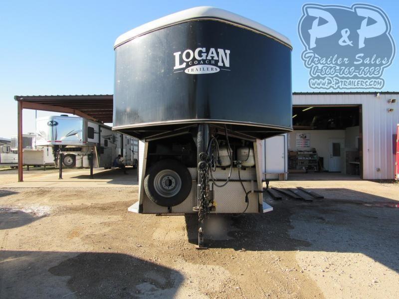 2004 Logan Coach 7308 3 Horse Slant Load Trailer 8' FT LQ