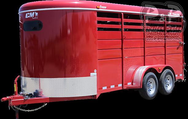2020 CM Durango 3 Horse Slant Load Trailer
