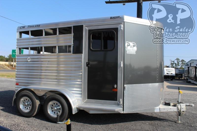 2020 CM CMH5042-13 2 Horse Slant Load Trailer