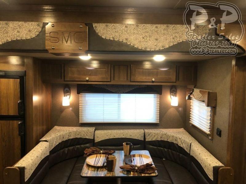 2020 SMC Horse Trailers SL8416SSRRSL 4 Horse Slant Load Trailer 16 FT LQ With Slides w/ Ramps