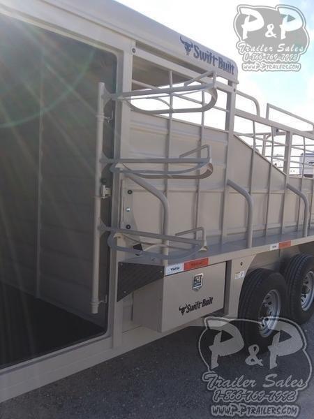 2020 Swift Built Trailers Swift Built Stock 16' Cowboy Half Top 16 ft Livestock Trailer