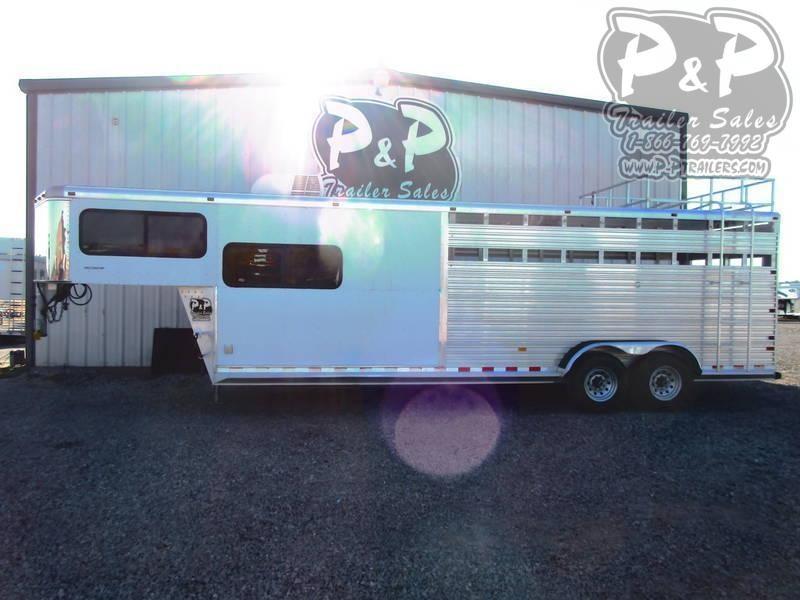 2002 Sundowner Trailers 7008 Stock Combo 24' in Livestock Trailer LQ