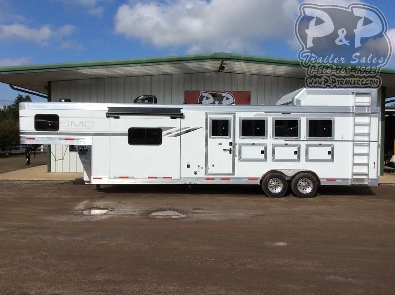 2019 SMC Horse Trailers SL8413SFK 4 Horse Slant Load Trailer 13 FT LQ With Slides