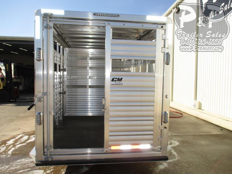 2020 CM Roundup AL 20 x 68 x 7 20 ft Livestock Trailer