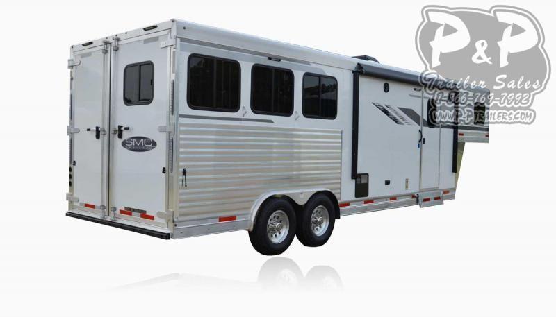 2020 SMC Horse Trailers SL8X9SR LARAMIE 3 Horse Slant Load Trailer 9 FT LQ With Slides