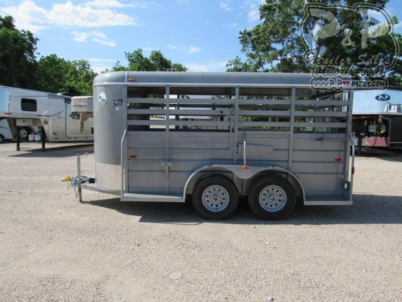 2020 W-W Trailer 14x5 All Around Livestock Trailer