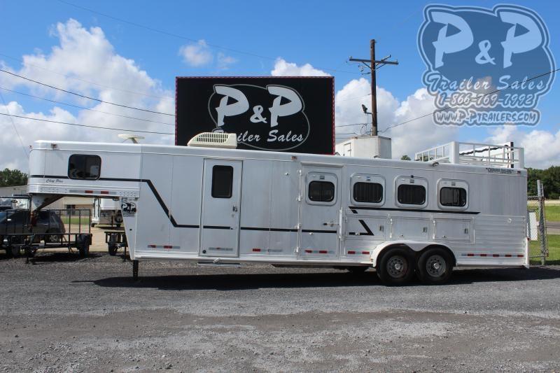 2000 Cherokee 7410 4 Horse Slant Load Trailer 10 FT LQ