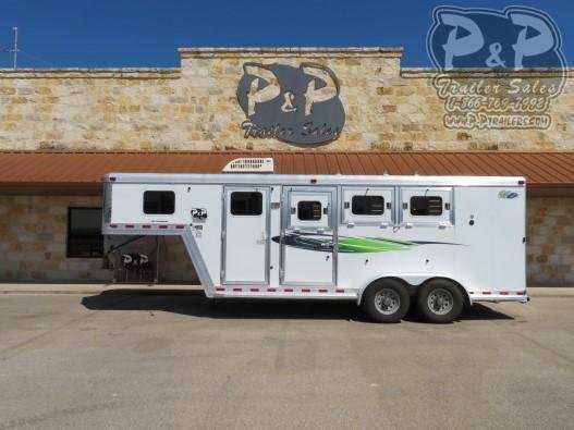 2007 Dream Coach Trailers LLC 7304GN Emerald Edition 3 Horse Slant Load Trailer 4 FT LQ