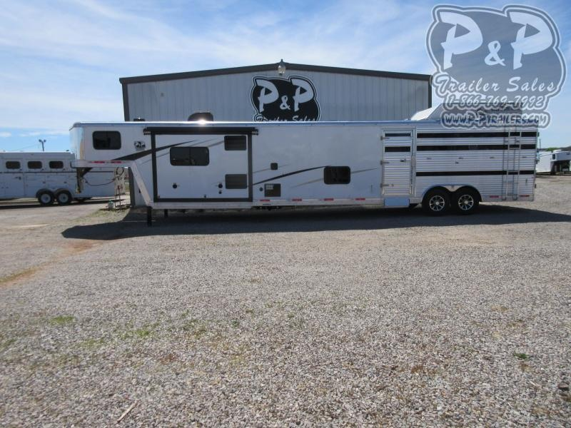 2020 Bison Trailers 8011LDSTLT 16' Stock w/Mid Tack 11' Short Wall w/Slide-Out 36 ft Livestock Trailer LQ