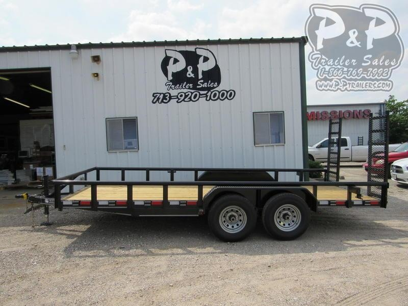 2020 P and P 83 X 18 Medium Duty Pipe Top 18 ft Utility Trailer