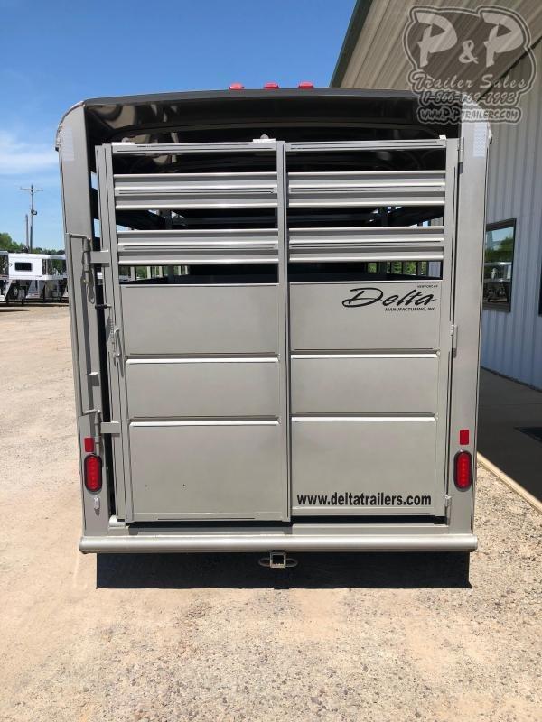 2020 Delta Manufacturing 500 Series 14 ft Livestock Trailer