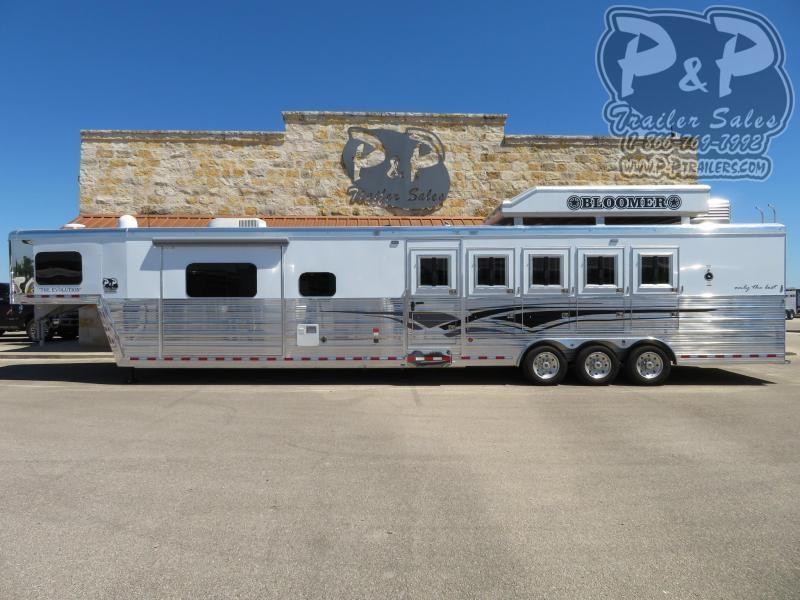2020 Bloomer 8516PCOL 5 Horse Slant Load Trailer 16 FT LQ With Slides w/ Ramps