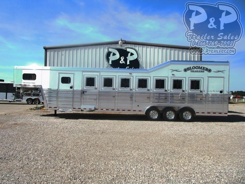 2020 Bloomer 7 Horse Trainer 7 Horse Slant Load Trailer w/ Ramps