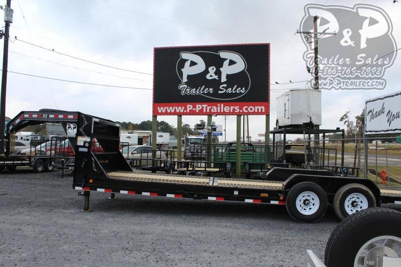 2020 PJ Trailers T6R2472BTTK-BMTO 24 ft Flatbed Trailer