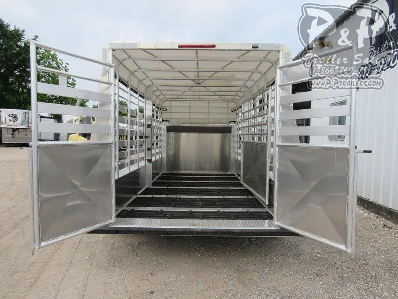 2020 W-W Trailer Alum Roustabout 16X6.8' 16 ft Livestock Trailer