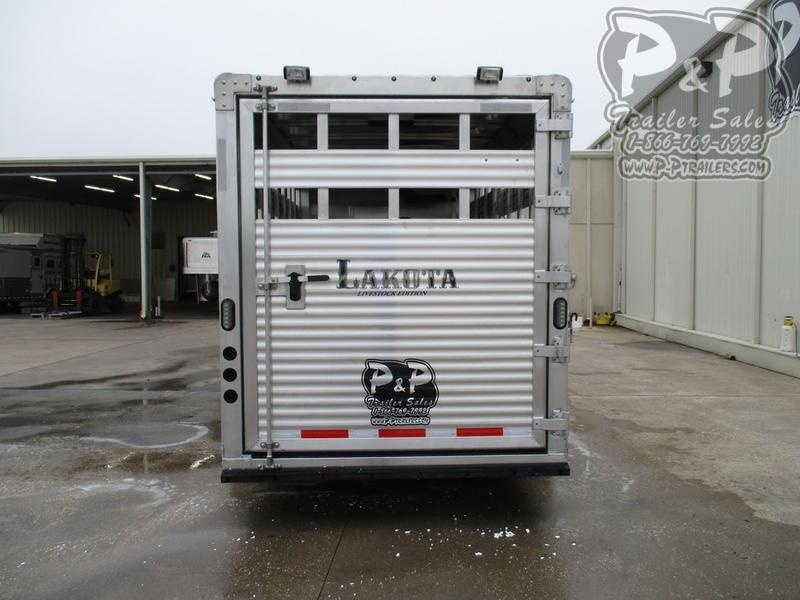 2020 Lakota Charger Edition LE1612 16' Stock 12' Straight Wall with Slide-out 28 ft Livestock Trailer LQ