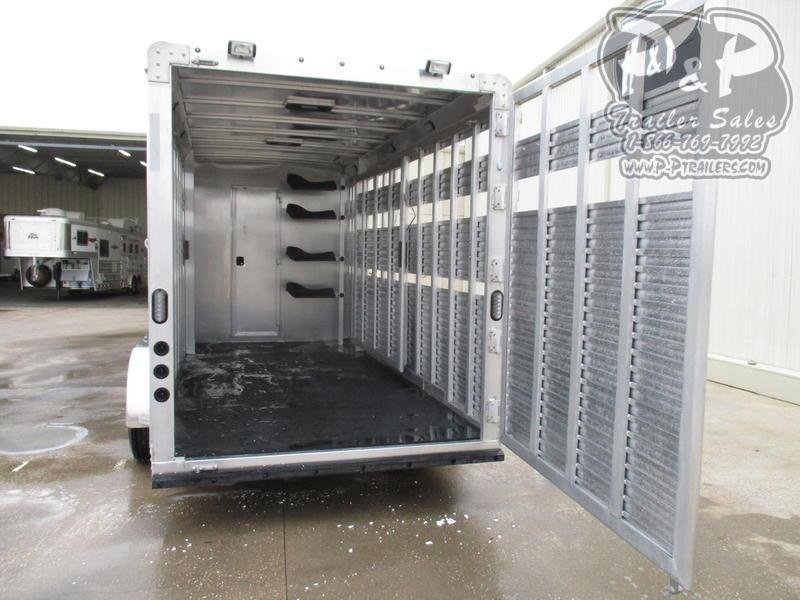 2020 Lakota Charger LE1612 16' Stock 12' Straight Wall with Slide-out 28 ft Livestock Trailer LQ