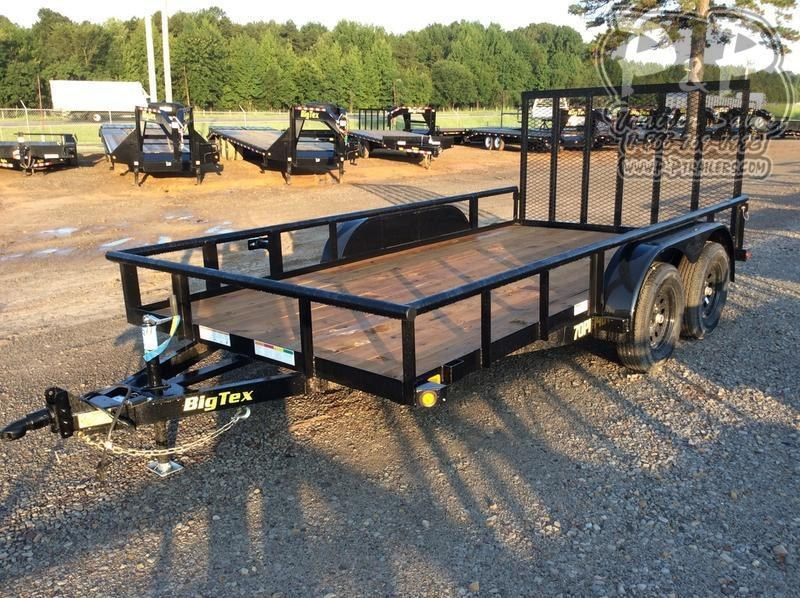 2020 Big Tex Trailers 70PI-14XBK4RG 14 ft Utility Trailer