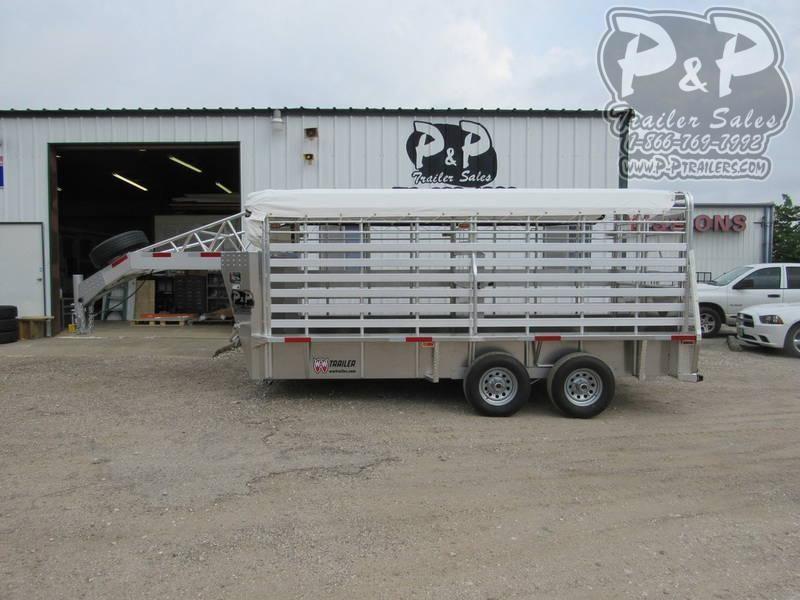 2020 W-W Trailer Alum Roustabout 16X6.8' 16 ft Livestock Trailer