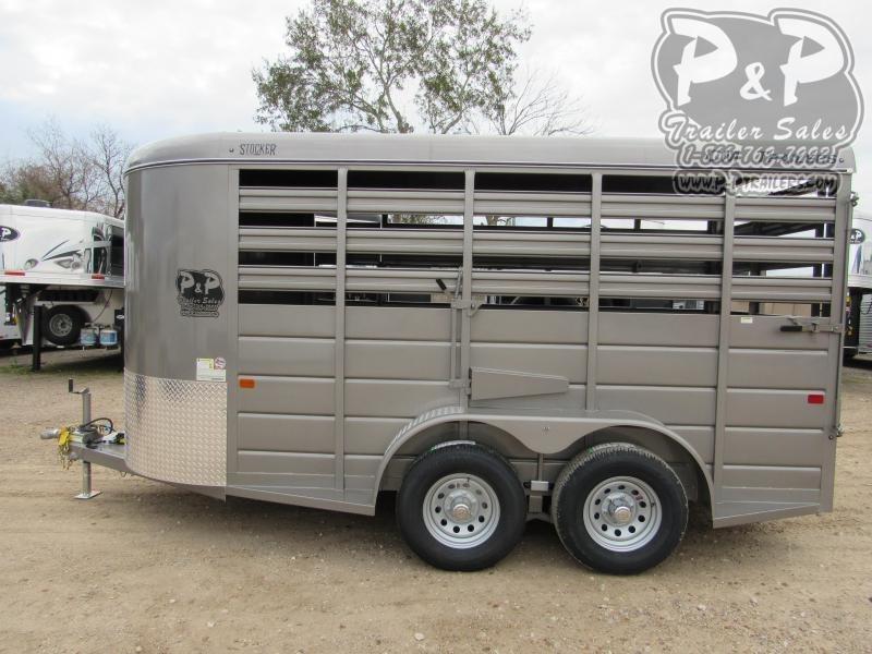 "2020 CM 14x6x6'6"" 14 ft Livestock Trailer"