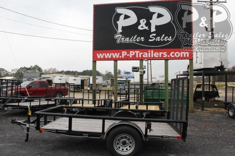 2019 P and P PPSA10X60LDRGPT 10 ft Utility Trailer