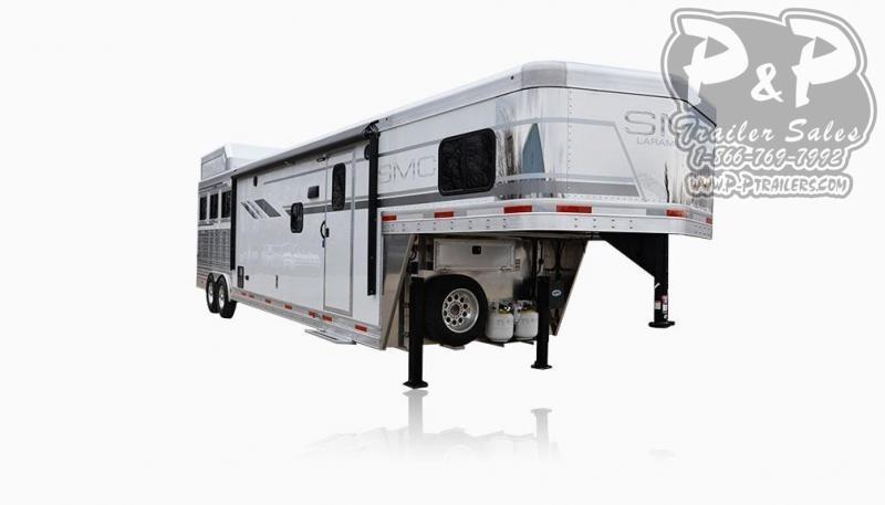 2020 SMC Horse Trailers SL8X15SRKCE 3 Horse Slant Load Trailer 15 FT LQ With Slides