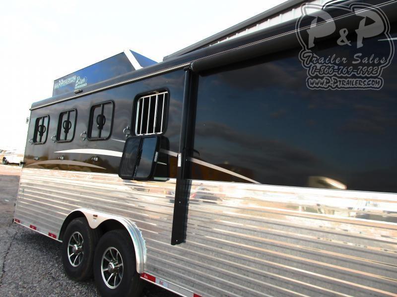 2019 Bison Trailers 8411RGS 4 Horse Slant Load Trailer 11 FT LQ With Slides