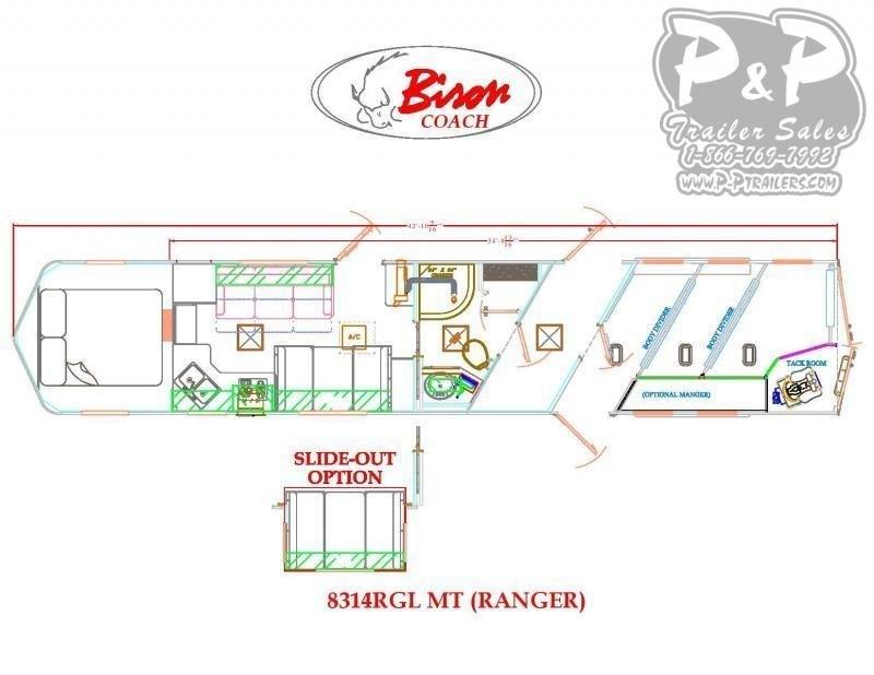2020 Bison 8314RGL Ranger 3 Horse 14' Short wall