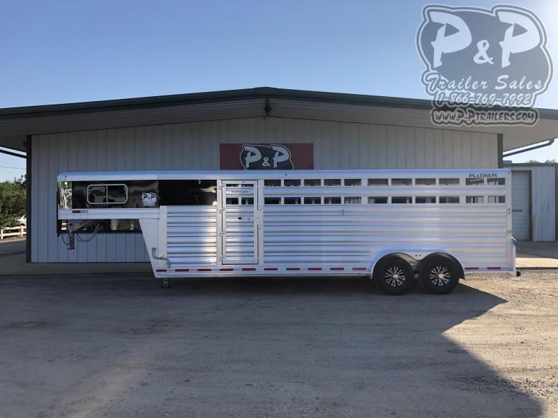 2019 Platinum Coach 7x24 Stock Combo 24' Livestock Trailer