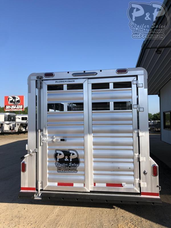 2021 Platinum Coach 724CSGN 24 ft Livestock Trailer