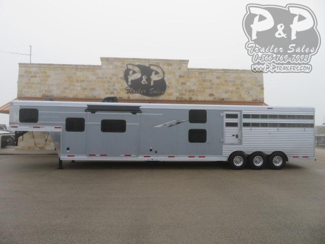 2020 SMC Horse Trailers SLE81413SSR 13' SW Livestock Trailer LQ