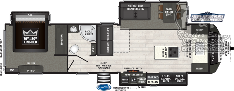 2019 Keystone Sprinter LIMITED 333FKS 37.75 ft Travel Trailer RV