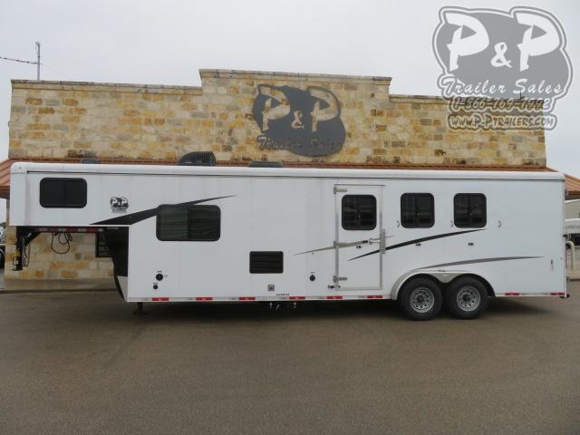 2020 Bison Trailers Trail Hand 7311TH 3 Horse Slant Load Trailer 11 FT LQ