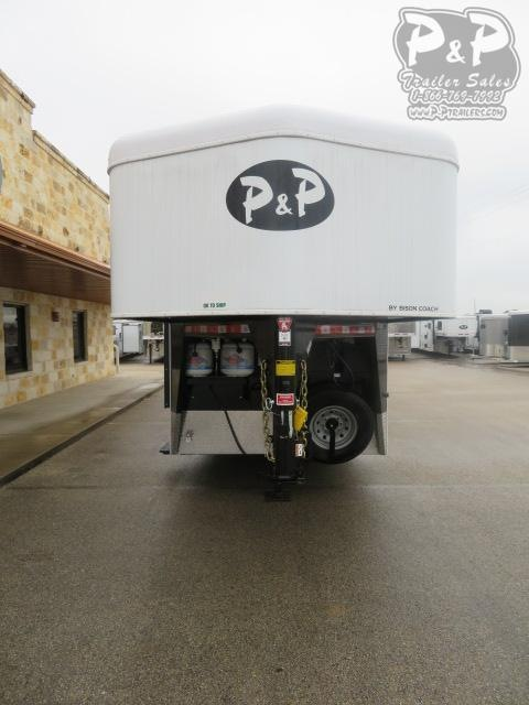 2020 Bison Trailers Trail Hand 7311TH 3 Horse Slant Load Trailer 11 FT LQ