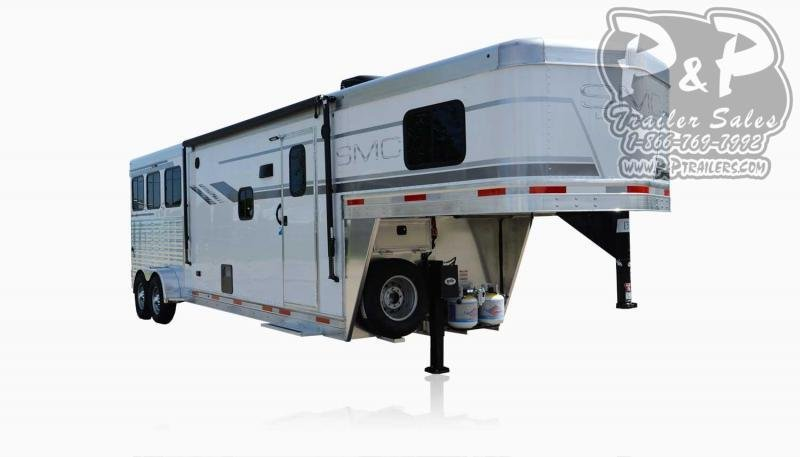 2020 SMC Horse Trailers SLX10RK LARAMIE 3 Horse Slant Load Trailer 10 FT LQ With Slides