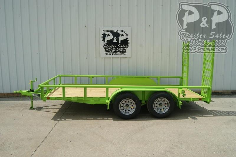 2019 P and P 83x14 TA 14 ft Utility Trailer