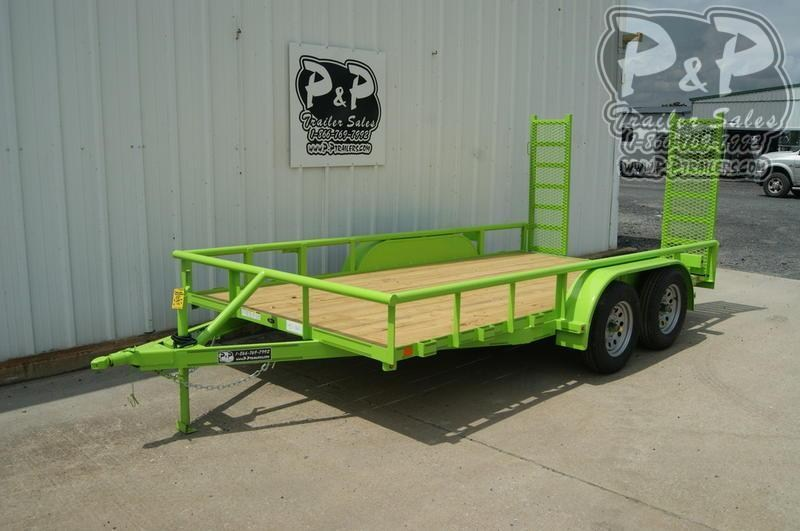 2020 P and P 83x14 TA 14 ft Utility Trailer