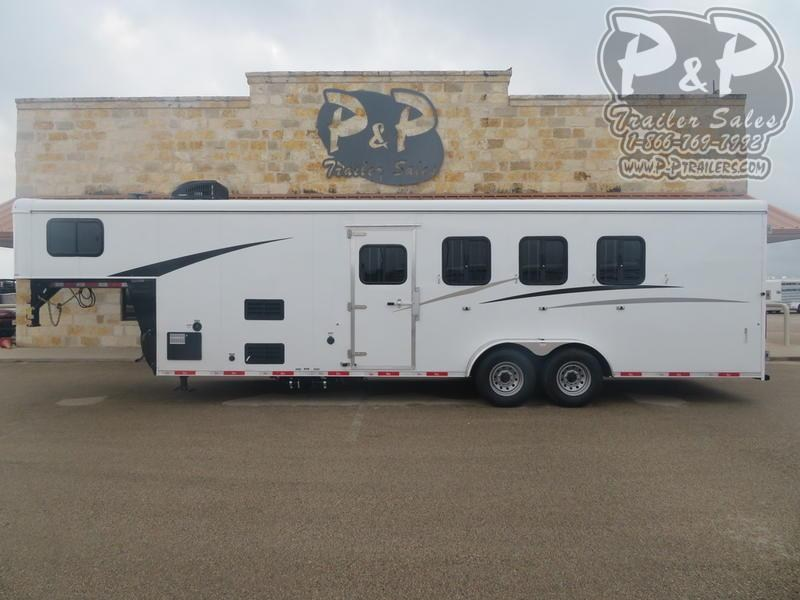 2019 Bison Trailers 7407TH Trail Hand 4 Horse Slant Load Trailer 7 FT LQ