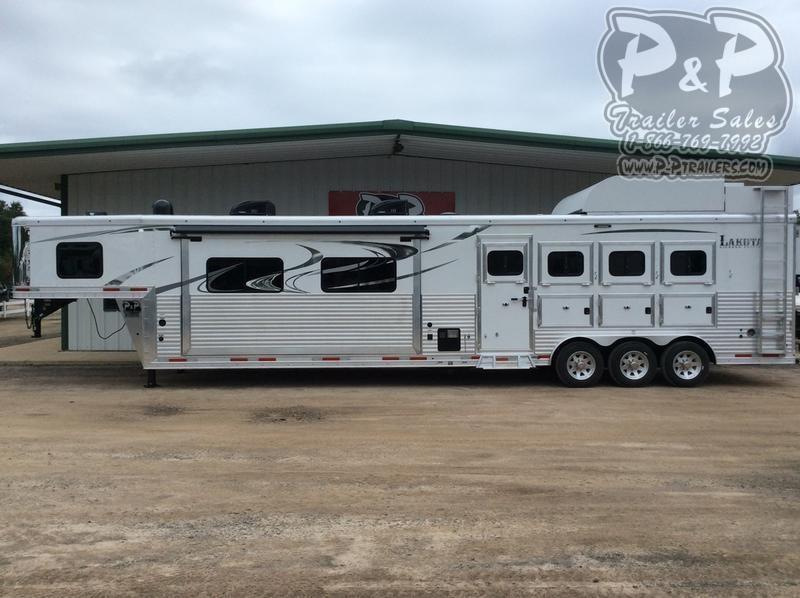 2019 Lakota Big Horn BH8417T 4 Horse Slant Load Trailer 17 LQ With Slides