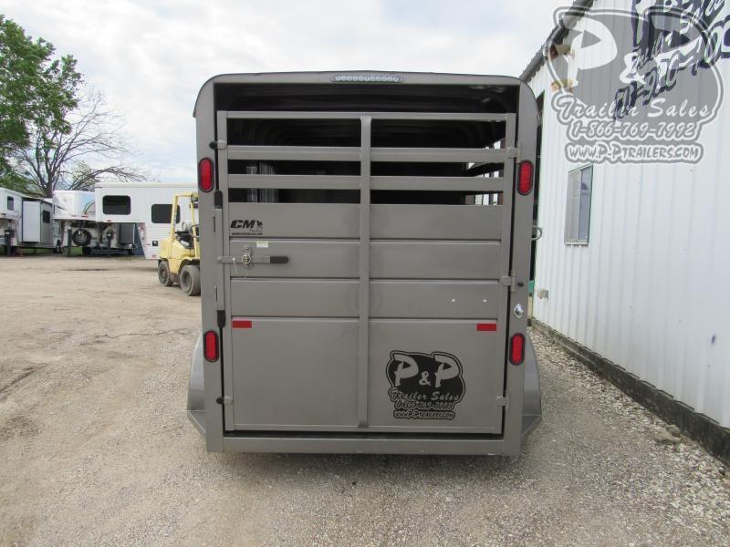2020 CM Dakota 2H 14x6'x6'6 w/Drop Windows 2 Horse Slant Load Trailer