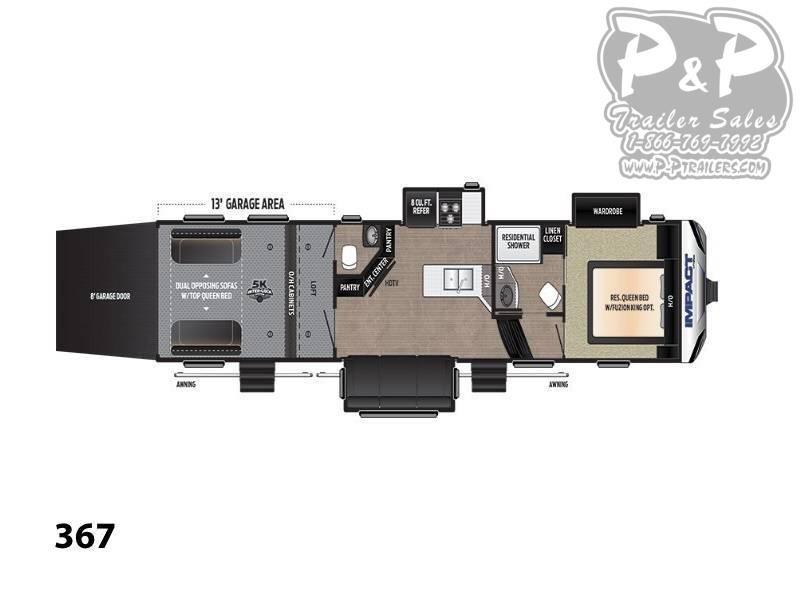 2018 Keystone Impact 367 39 ft Toy Hauler RV